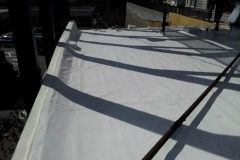 This is another view of the protective new roof we installed for this commercial property in Buckhead as part of a roof replacement.