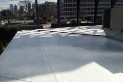 Another view of a commercial roof replacement in Buckhead, Georgia.