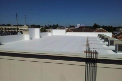 Completed commercial roofing job in Norcross, Georgia.