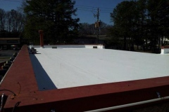 Another beautiful view of a completed roof replacement we made for this commercial property.