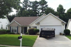 Completed roof replacement in Suwanee, GA.