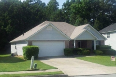 Completed roof replacement in Stockbridge, GA.