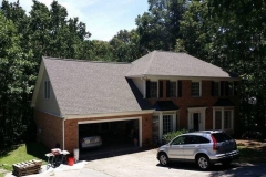 Completed roof replacement project in Roswell, GA.