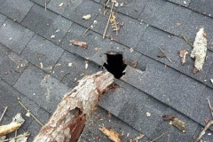 Serious roof damage